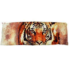 Tiger Portrait Art Abstract Body Pillow Case (dakimakura)