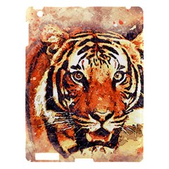 Tiger Portrait Art Abstract Apple Ipad 3/4 Hardshell Case