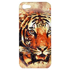 Tiger Portrait Art Abstract Apple Iphone 5 Hardshell Case