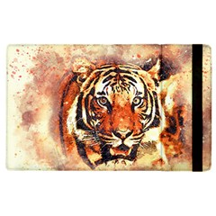 Tiger Portrait Art Abstract Apple Ipad 2 Flip Case