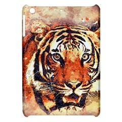 Tiger Portrait Art Abstract Apple Ipad Mini Hardshell Case