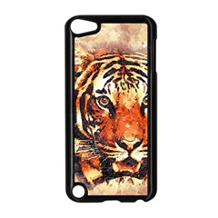 Tiger Portrait Art Abstract Apple Ipod Touch 5 Case (black)
