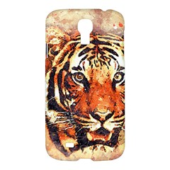 Tiger Portrait Art Abstract Samsung Galaxy S4 I9500/i9505 Hardshell Case