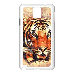 Tiger Portrait Art Abstract Samsung Galaxy Note 3 N9005 Case (white)