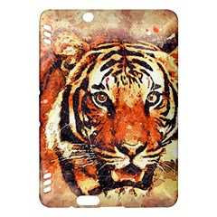 Tiger Portrait Art Abstract Kindle Fire Hdx Hardshell Case