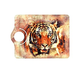 Tiger Portrait Art Abstract Kindle Fire Hd (2013) Flip 360 Case