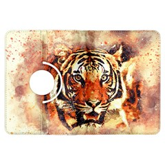 Tiger Portrait Art Abstract Kindle Fire Hdx Flip 360 Case