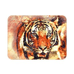 Tiger Portrait Art Abstract Double Sided Flano Blanket (mini)
