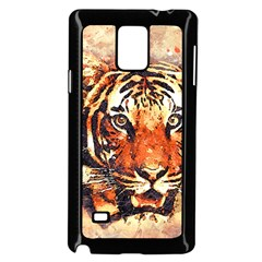 Tiger Portrait Art Abstract Samsung Galaxy Note 4 Case (black)