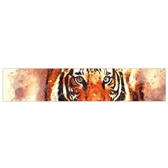 Tiger Portrait Art Abstract Small Flano Scarf