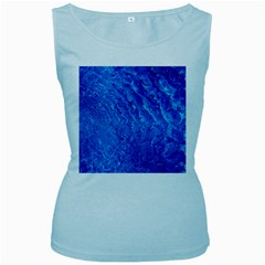 Background Art Abstract Watercolor Women s Baby Blue Tank Top