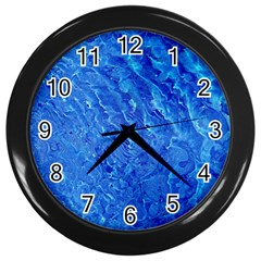 Background Art Abstract Watercolor Wall Clocks (black)