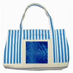 Background Art Abstract Watercolor Striped Blue Tote Bag