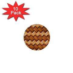 Basket Fibers Basket Texture Braid 1  Mini Buttons (10 Pack)