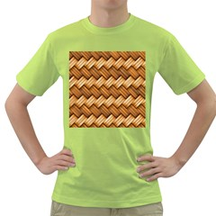 Basket Fibers Basket Texture Braid Green T Shirt