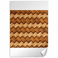 Basket Fibers Basket Texture Braid Canvas 12  X 18