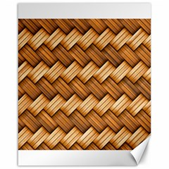 Basket Fibers Basket Texture Braid Canvas 16  X 20   by Nexatart
