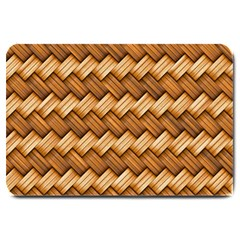 Basket Fibers Basket Texture Braid Large Doormat