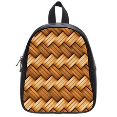 Basket Fibers Basket Texture Braid School Bag (small)