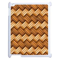Basket Fibers Basket Texture Braid Apple Ipad 2 Case (white)