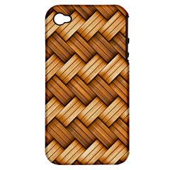 Basket Fibers Basket Texture Braid Apple Iphone 4/4s Hardshell Case (pc+silicone)