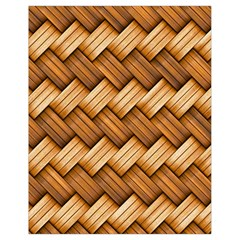 Basket Fibers Basket Texture Braid Drawstring Bag (small) by Nexatart