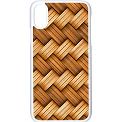 Basket Fibers Basket Texture Braid Apple Iphone X Seamless Case (white)