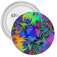 Star Abstract Colorful Fireworks 3  Buttons