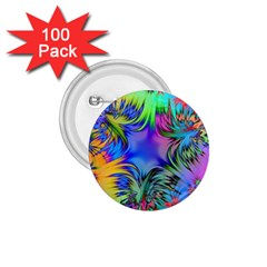 Star Abstract Colorful Fireworks 1 75  Buttons (100 Pack)