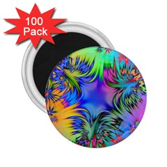 Star Abstract Colorful Fireworks 2 25  Magnets (100 Pack)