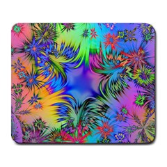 Star Abstract Colorful Fireworks Large Mousepads