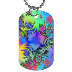 Star Abstract Colorful Fireworks Dog Tag (one Side)
