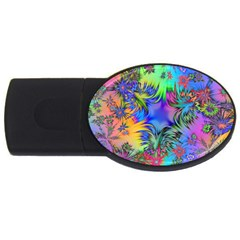 Star Abstract Colorful Fireworks Usb Flash Drive Oval (2 Gb)