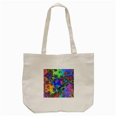 Star Abstract Colorful Fireworks Tote Bag (cream)