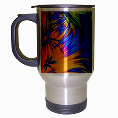 Star Abstract Colorful Fireworks Travel Mug (silver Gray)