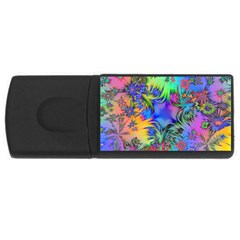 Star Abstract Colorful Fireworks Rectangular Usb Flash Drive