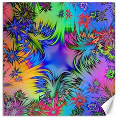 Star Abstract Colorful Fireworks Canvas 20  X 20