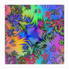 Star Abstract Colorful Fireworks Medium Glasses Cloth (2 Side)