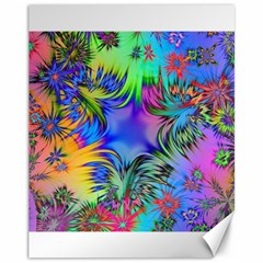 Star Abstract Colorful Fireworks Canvas 11  X 14