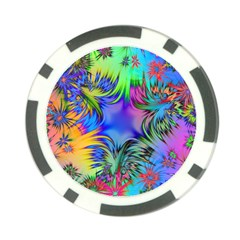 Star Abstract Colorful Fireworks Poker Chip Card Guard
