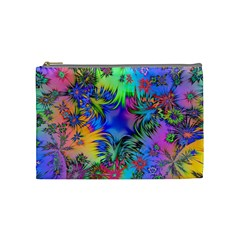 Star Abstract Colorful Fireworks Cosmetic Bag (medium)  by Nexatart