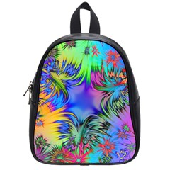 Star Abstract Colorful Fireworks School Bag (small)