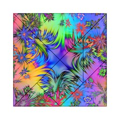 Star Abstract Colorful Fireworks Acrylic Tangram Puzzle (6  X 6 )