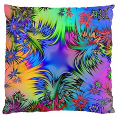 Star Abstract Colorful Fireworks Large Cushion Case (two Sides)