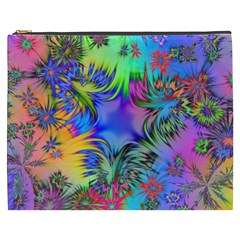 Star Abstract Colorful Fireworks Cosmetic Bag (xxxl)