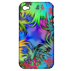 Star Abstract Colorful Fireworks Apple Iphone 4/4s Hardshell Case (pc+silicone)