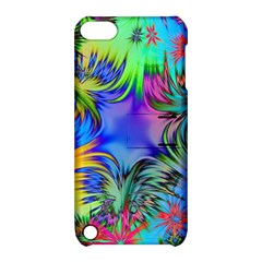 Star Abstract Colorful Fireworks Apple Ipod Touch 5 Hardshell Case With Stand by Nexatart
