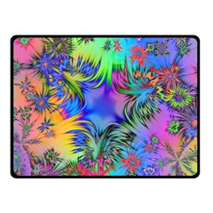 Star Abstract Colorful Fireworks Double Sided Fleece Blanket (small)