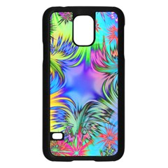 Star Abstract Colorful Fireworks Samsung Galaxy S5 Case (black)