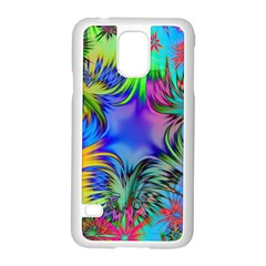 Star Abstract Colorful Fireworks Samsung Galaxy S5 Case (white)